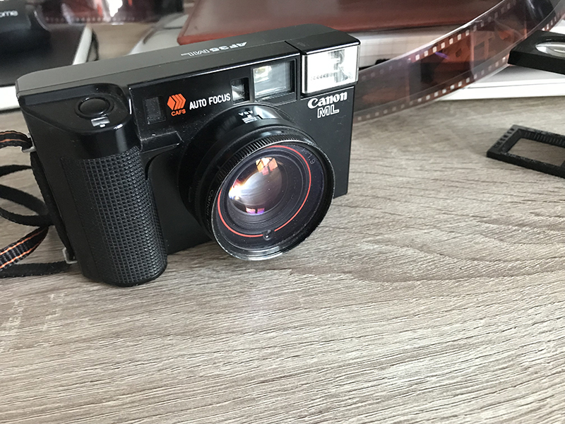 Canon AF35ML point and shoot camera for street photography